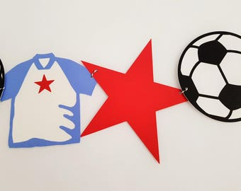 Soccer Party Garland, Soccer Banner, Sports Garland, Sports Banner, Birthday Garland, Birthday Banner, READY TO SHIP