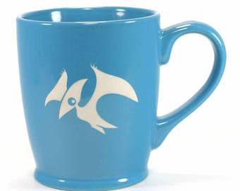 SALE - Pterodactyl Dinosaur Mug - pteranodon coffee cup - Choose Your Color
