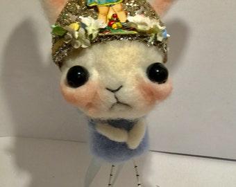 Sweet bunny rabbit  Ooak  art doll