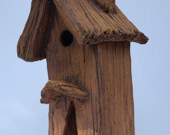 Handbuilt Pottery Fairy House - Rustic Cottage
