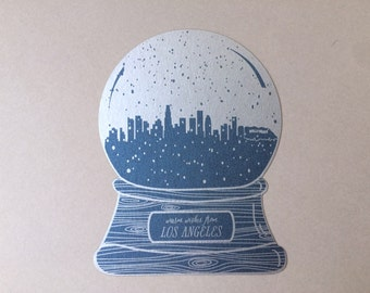 Los Angeles snow globe, warm wishes