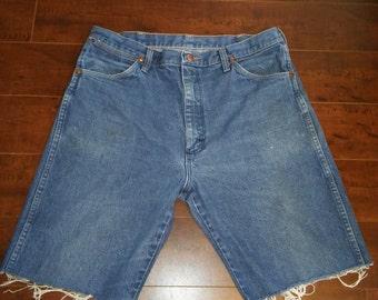 Wrangler Jean shorts cut offs  W Waist 35 X 10