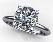 Private listing for Kevin - kenya ring – 1.5 carat diamond cut round NEO moissanite engagement ring