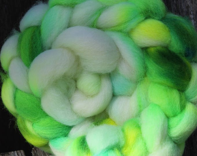 Kettle Dyed Cheviot Wool Top.  Easy to spin. 4oz  Braid. Spin. Felt. Roving. C211