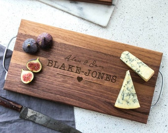 Personalised Images Wedding Walnut Board