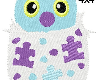 Egg hatch animal puzzles Machine Embroidery Filled Pattern Design Sz 4x4 only INSTANT DOWNLOAD