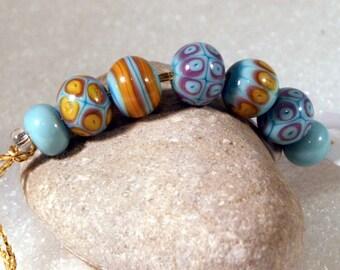 Lampwork  Art Beads by Jeanniesbeads #794