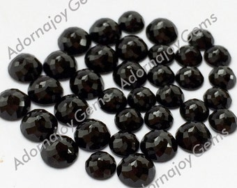 Gemstone Cabochon Black Spinel 6mm Rose Cut Fancy FOR TWO