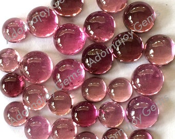Gemstone Cabochon Tourmaline Pink 4mm Round FOR TWO