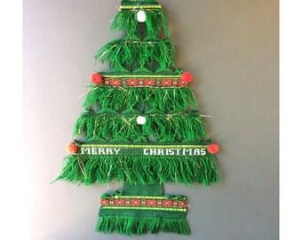 Wall Hanging Christmas Tree vintage christmas tree wall hanging | etsy