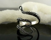 VDAY Sale SALE - Ready to Ship! Handmade Jewelry, Tentacle Ring, Octopus Ring, OctopusME, Wicked tentacle ring