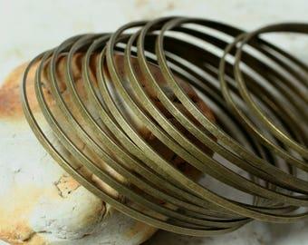 Stacking Bangle, Stackable Bangle, Antique Brass Bangle, Bangle Set, medium to large size, one piece (item ID FA00143AB)