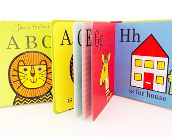 Jane Foster's ABC pre-school baby board book  -  Scandi retro illustrations Jane Foster - can sign on request