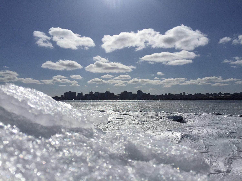 Dartmouth waterfront halifax skyline winter ice