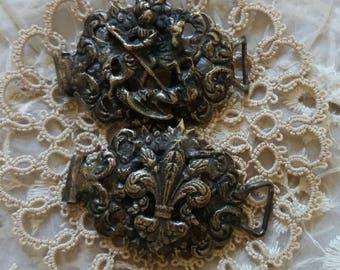 Vintage Supplies..metal ornate Embellishments