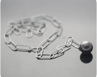 Wrecking Ball - Ball and Chain Sterling Silver necklace