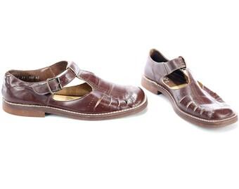 FISHERMAN Sandals for Men 70s Huarache Fisherman Retro Gladiator Vintage Leather Grandpa Sandals Brown US men 7.5, US women 9.5, Uk 7, Eu 40