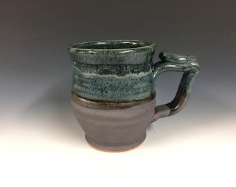 Blue sky mug, handmade pottery, beer stein, ready to ship