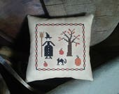 PriMiTiVe - - Witchy Fall - - EaRLy LoOk CrOSs STiTcH Cupboard Tuck
