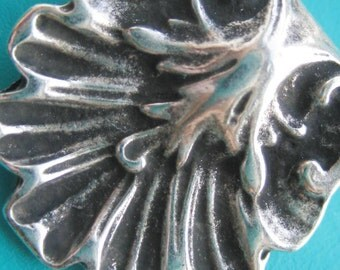 Greek Floral Ornate Slider Spacer silver Pewter Bead x 1