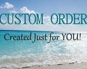 Custom Listing for Deb Sea Glass Bracelet Sea Glass Charm Bracelet Beach Jewelry Beach Bracelet B-244