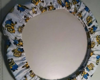 """8x8""""  Minions Qsnap cover. Also fits 10 in hoop as shown"""