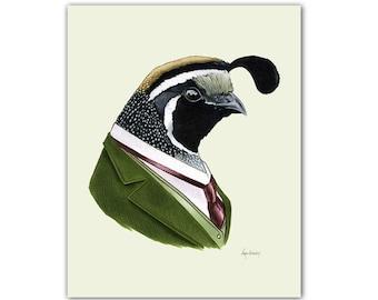 Gentleman Quail print 8x10