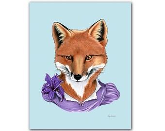 Fox Lady art print 11x14