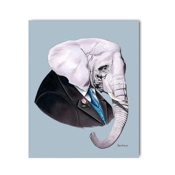 Elephant print 5x7