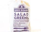 Salad Greens Seed Bombs - Indoor or Outdoor Gardening