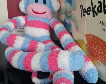 Cinthya the sock monkey ready to ship
