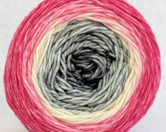 Come What May Panoramic Gradient, dyed to order - pick your yarn and yardage!
