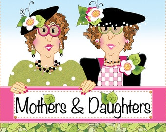 "AP6.40 - Moms & Daughters - 6"" Fabric Art Panel"
