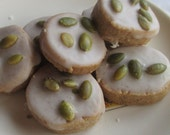 4 Dozen Pumpkin Spice Shortbread Cookies w/pumpkin Spice Glaze and Pumpkin Seeds