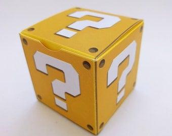 Super Mario Question Treat Box - DIY Printable