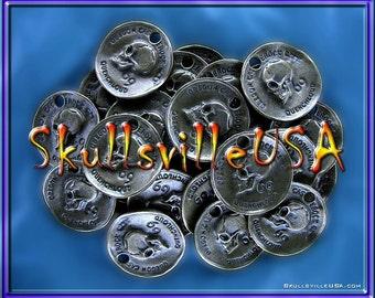 Skull Coin Pendant / Charm