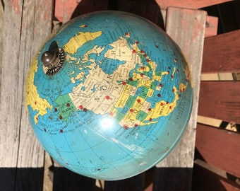 Vintage globe great base