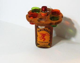 Shot Glass holder Made Of Oak Wood