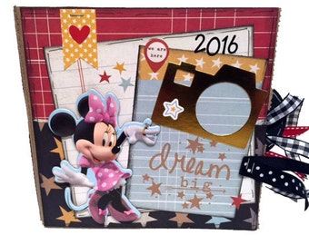Disney Dream Paper Bag Scrapbook - Disney Autograph Paper Bag Album