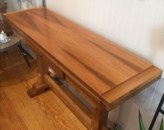 Walnut Folding Console Table - Custom Sizes Available!
