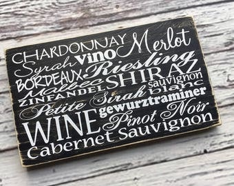 Wine sign | WIne List | Wine Cellar Subway Sign |  Vino | Chardonnay | Merlot | Pinot Noir | Wine | Cabernet | Zinfandel | Style HM14