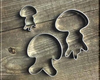 Set of 3 Jellyfish Metal Cookie Cutters #NAWK15