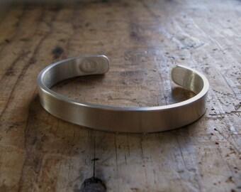 Chunky Sterling Silver Cuff Bracelet