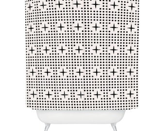 Dot and Plus Mudcloth Shower Curtain