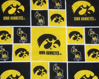 Iowa Hawkeyes Hair Scrunchie Scrunchies by Sherry Ties Ponytail Holders NCAA Fabric