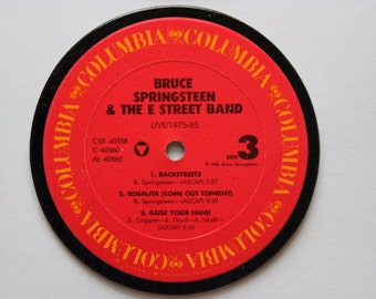BRUCE SPRINGSTEEN Record Album Coasters - choose your album