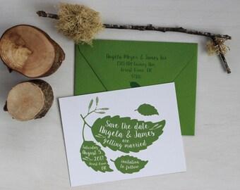 Printable Wedding, Save the Date, Printable Envelope, Rustic Wedding, Arbor Wedding, DIY Wedding, Woodland Wedding, Woodland Bride, Minimal