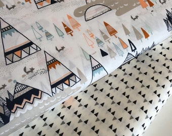 SALE fabric, Teepee fabric, Adventure fabric, Modern fabric, Hipster, Nursery fabric, Art Gallery, Bundle of 2- Choose the Cut