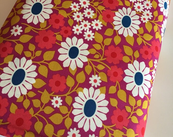 Hello Love fabric, Bright Quilt fabric, Vintage Like, Baby Quilt fabric, Crib Bedding, Heather Bailey Fields Forever Violet, Choose your cut