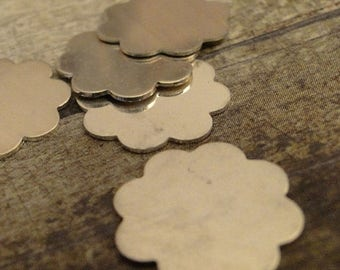 SPRING BLOW-OUT Sale Sterling Silver Blanks - 8-petal flowers - Quantity 2 - sterling silver stamping blanks - 24g - 1/2 inch (13mm) - use i